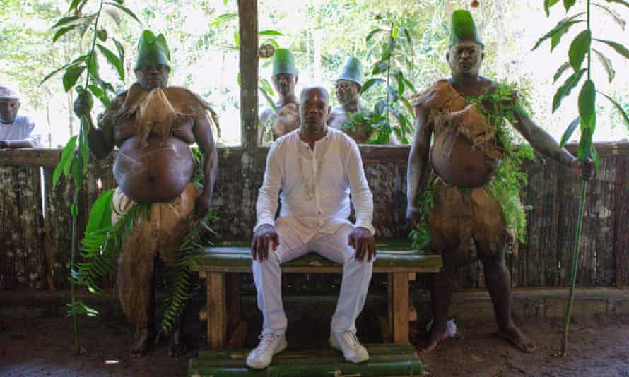 'A really emotional, satisfying feeling' … Jackson during his initiation into the Benga tribe.