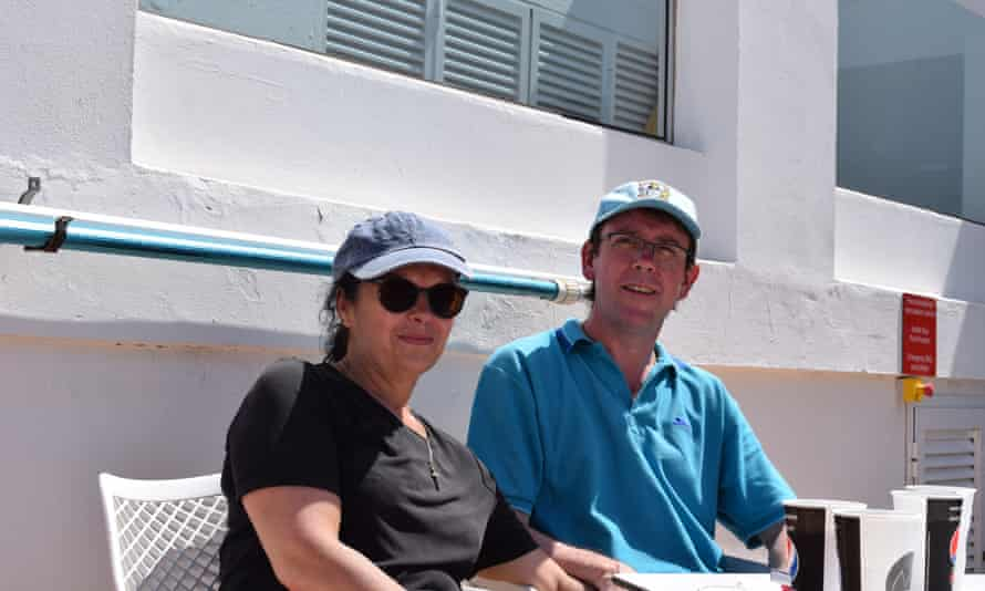 Happy guests Claire and Trevor from Coventry.