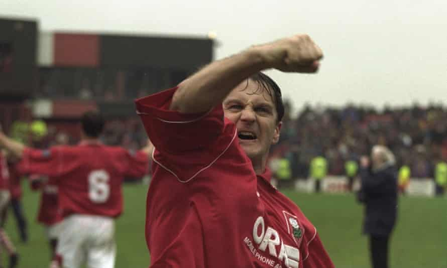 John Hendrie celebrates Barnsley's promotion to the Premier League in 1997. They don't make them like him any more.
