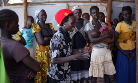 Lucy Ateyi, a refugee now working as a translator at a women's group in the Bidi Bidi camp.