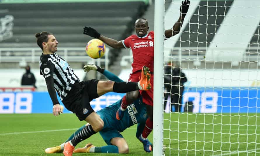 Fabian Schär reacted superbly to beat Sadio Mané to a loose ball on the goalline.