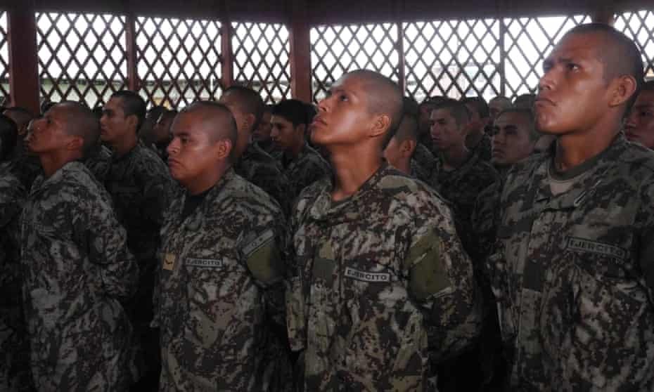 Soldiers in Peru's new Amazon Protection Force.