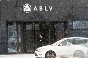 The head office of the ABLV Bank in Riga, Latvia.