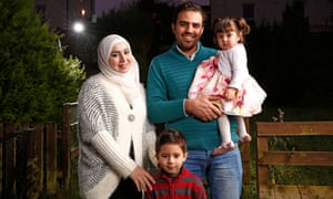 Syrian refugees Muhannad Helmi, his wife Raghad Al Barkawi and their children Muhannad and Raghad found a home on the Isle of Bute.
