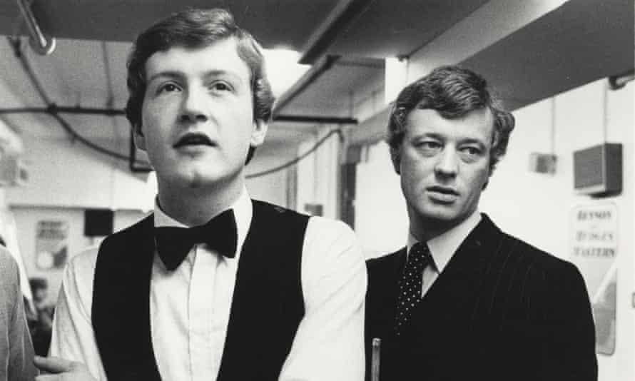 Barry Hearn with Steve Davis in 1982