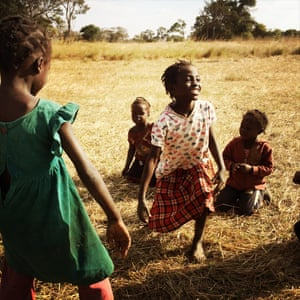 Girls play in a rural village an hour outside of Kabwe, Zambia. Many in the area are subsistence farmers who grow tomatoes, cabbage, kale and other staples. Follow Idil on Instagram: @i_am_idil