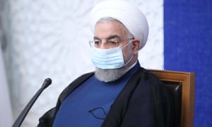 Iran's president, Hassan Rouhani, speaks at a meeting in Tehran