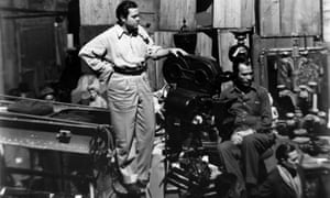 Orson Welles on the set of Citizen Kane