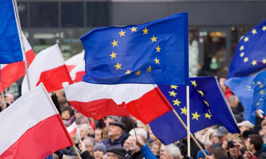A protest against the ruling Law & Justice party, in Bydgoszcz, Poland, last week.