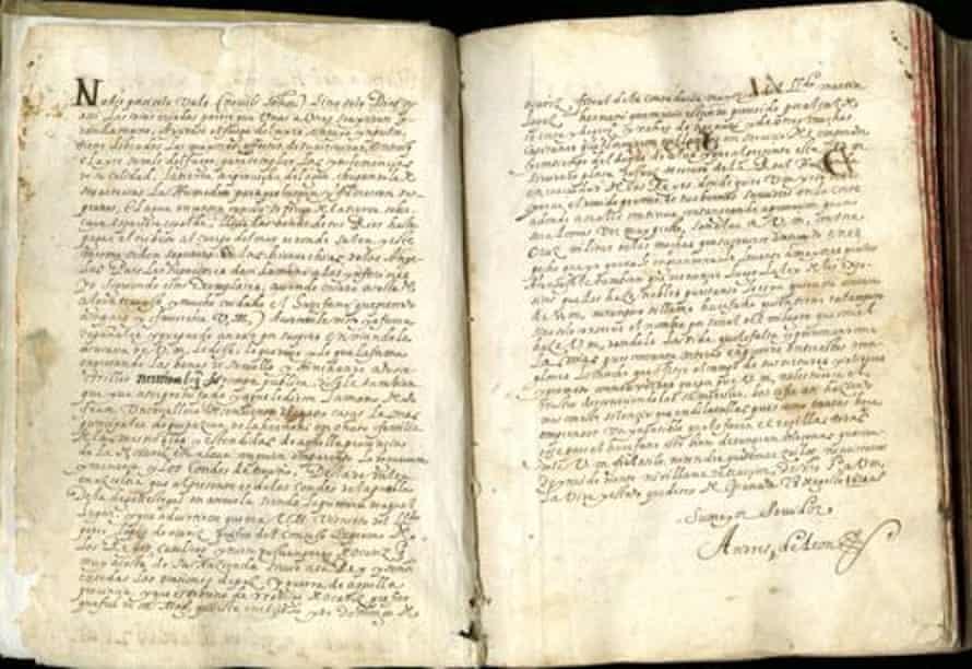 The original manuscript of Historia del huérfano - The Orphan's Story.