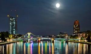 Frankfurt's Ignatz Bubis bridge over the Main river
