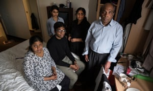 The Balachandran family faces deportation on Monday. Sangarapillai, right, was headhunted by UK company in 2007.