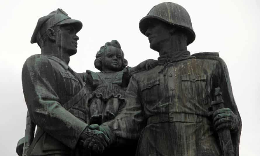 The 'monument to gratitude' to Soviet forces in Legnica, Poland, which has been removed