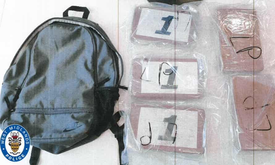 The rucksack contained 5kg of cocaine with a street value of £500,000.