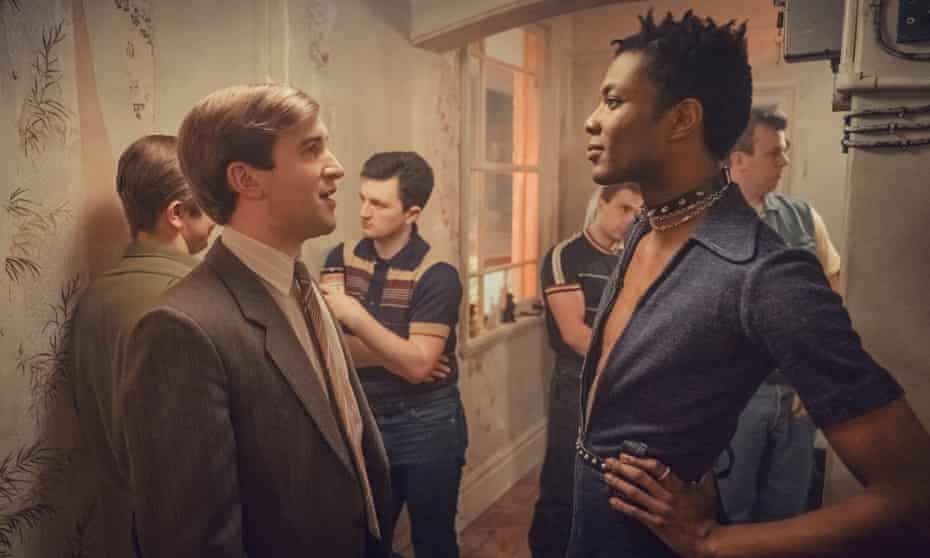 'It captures the ropey pubs with dirty dancefloors, snogging boys' … Omari Douglas (right) as Roscoe.