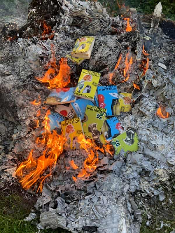 Earlier this year Winterson caused a social media storm by burning reissues of her own novels.