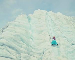 Climbing cholitas: an Aymara indigenous woman from Bolivia scales a mountain