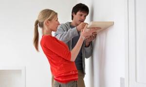 A man and woman doing DIY