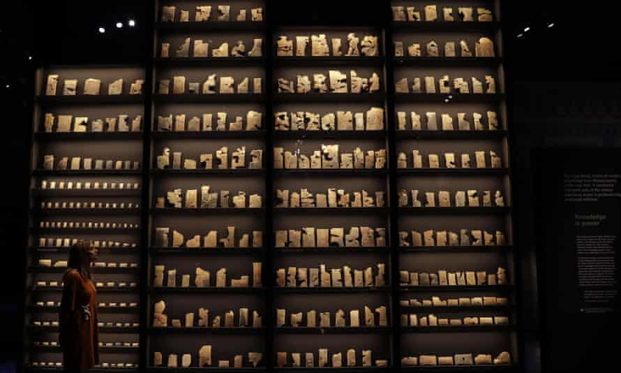 'A glimpse of hope' … stone tablets from the library of Ashurbanipal.