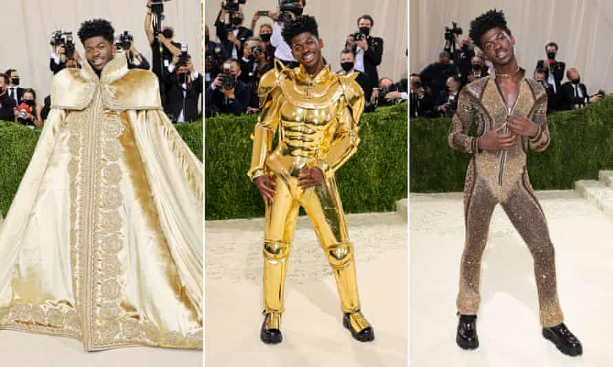 Lil Nas X shows off his three looks