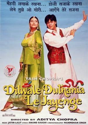 Kajol and Shah Rukh Khan in Dilwale Dulhania Le Jayenge.