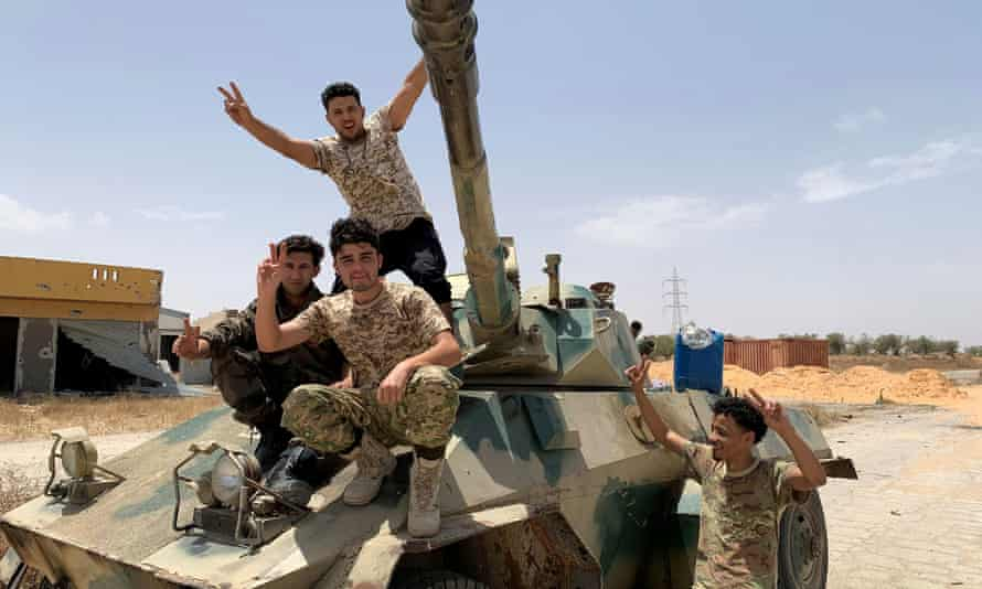 Fighters loyal to Libya's UN-recognised government in Tripoli.