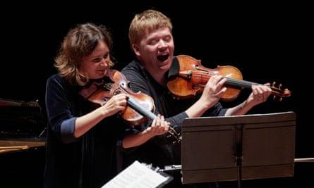 Unforgettable panache … Patricia Kopatchinskaja and Pekka Kuusisto