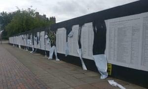 The damaged List artwork