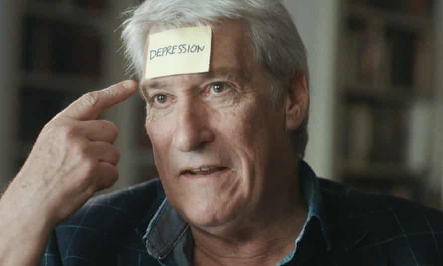 Jeremy Paxman and others took part in a publicity drive to raise awareness of mental health.