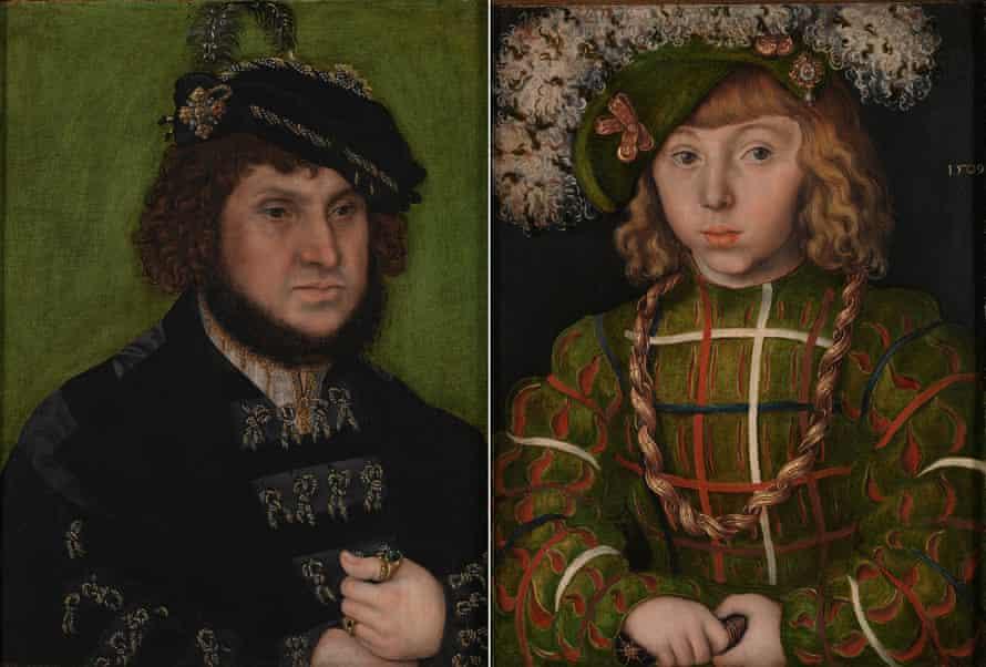Johann the Steadfast, left, and Johann Friedrich the Magnanimous, 1509, by Lucas Cranach the Elder.
