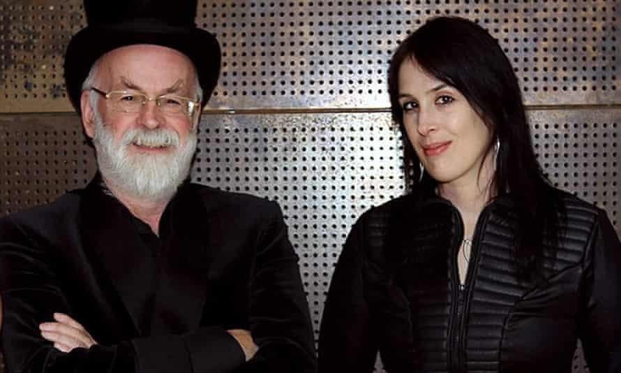 Rhianna Pratchett with her father, Sir Terry Pratchett.