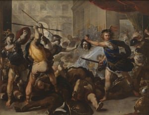 Perseus Turning Phineas and His Followers to Stone, by Luca Giordano (1632-1705).