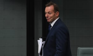Former Australian prime minister Tony Abbott arrives during House of Representatives Question Time at Parliament House in Canberra, 13 June 13 2017