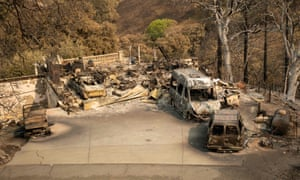 The California governor, Gavin Newsom, said 625 fires were burning throughout the state and had scorched more than 1.2m acres