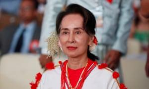 Myanmar State Counselor Aung San Suu Kyi.