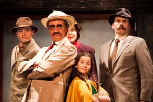 The French Detective and the Blue Dog at the Egg, Bath, in 2011. Hattie Naylor's play followed Inspector Charcuterie who leaves all the work to his orphan assistant.