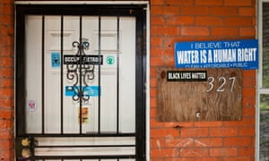 A home in Detroit's North End neighborhood whose water has been shut off.