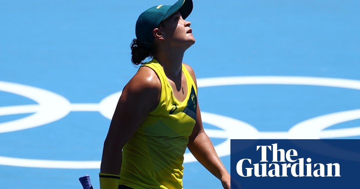 Ash Barty knocked out of Tokyo Olympics in shock round-one loss