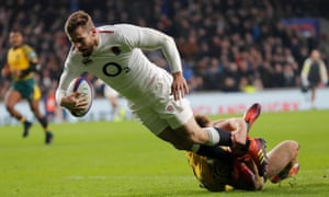 England's Elliott Daly scored a superb try against Australia as Twickenham enjoyed a thrilling end to the Autumn series.