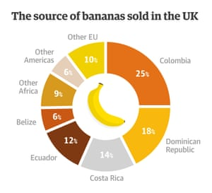 The source of bananas sold in the UK (Source: Banana Link)