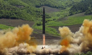 North Korea launched a Hwasong-14 intercontinental ballistic missile, ICBM, in July.