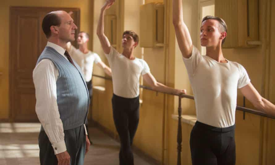 Oleg Ivenko (right) as Rudolf Nureyev and Ralph Fiennes as his teacher in The White Crow (2018).