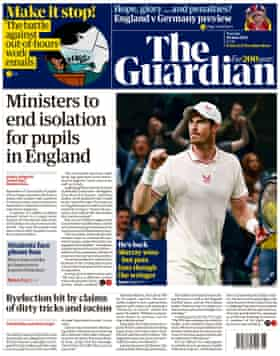 Guardian front page Tuesday 29 June 2021