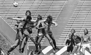 The Rochester Lancers, seen here in action against the New England Tea Men in 1978, won the NASL championship in 1970, but couldn't sustain their success in the latter part of the decade.