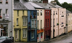 Narberth, Pembrokeshire, where the family arrived in the summer.