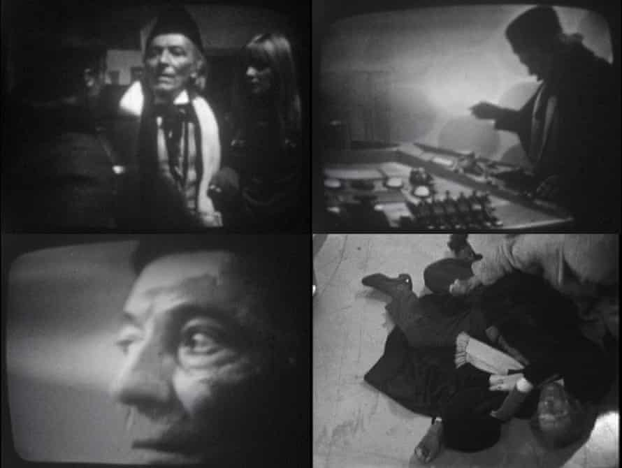 Some surviving images from William Hartnell's final scenes from 'The Tenth Planet'