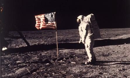 """Edwin """"Buzz"""" Aldrin on the moon in 1969."""