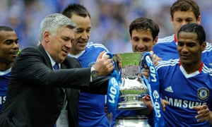 Carlo Ancelotti after Chelsea beat Portsmouth in the 2010 FA Cup final to complete the Double