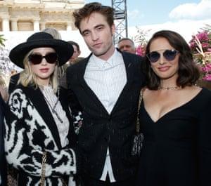 Jennifer Lawrence, Robert Pattinson and Natalie Portman at the Dior show.