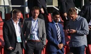 Gareth Southgate watches the first half.